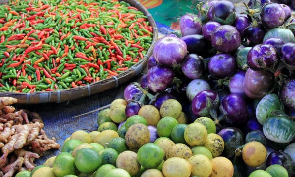 Local produce at the Phosi market