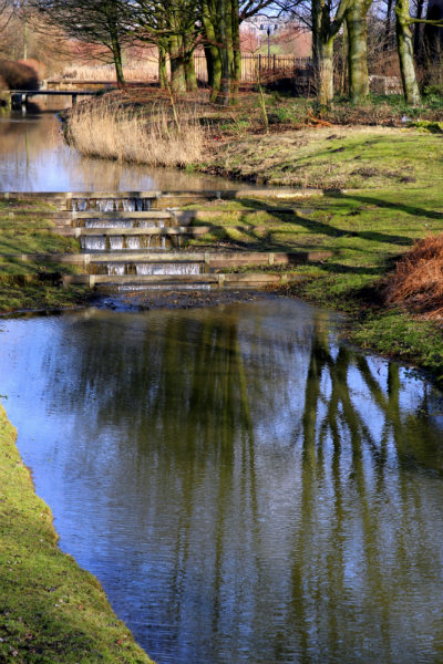 Reflections on the waterways of the Westerpark