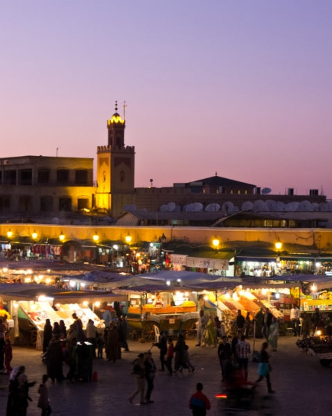 Jemaa el-Fnaa at night
