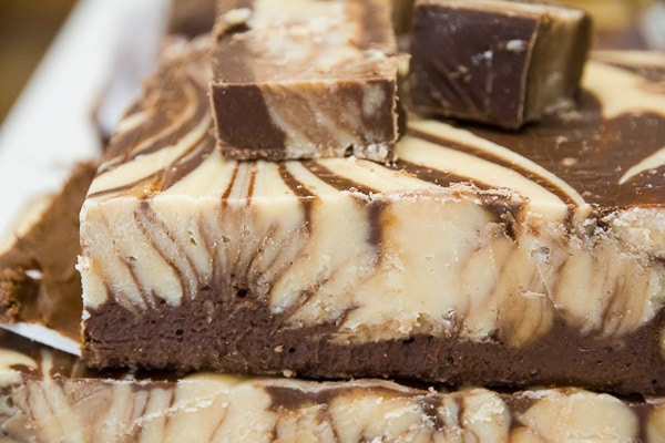Peanut butter and chocolate fudge will melt in your mouth.