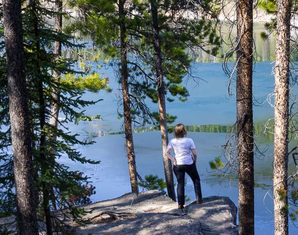 Reflecting at Horseshoe Lake.