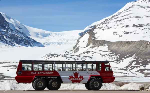 An Ice Explorer at the Columbia Icefields