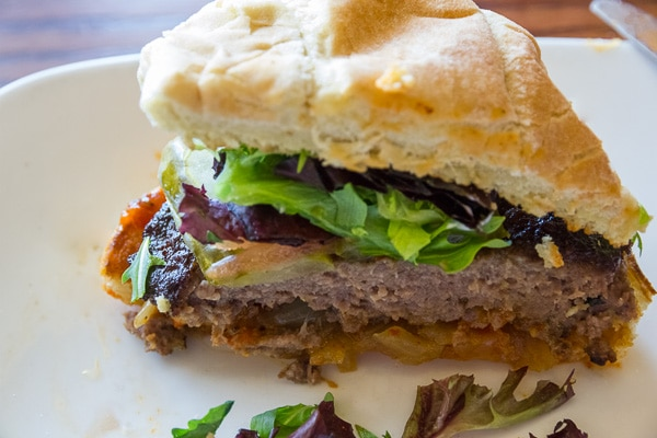 Wild Game burger Papa George's