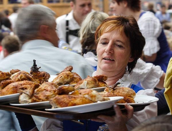 Roasted chicken (Photo Credit: Oktoberfest by Flickr user andrijbulba)