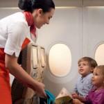 Flying nanny entertaining children
