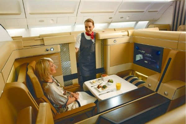 Etihad Airways First Class Food Service
