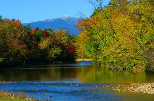 Mt Washington Valley in New England