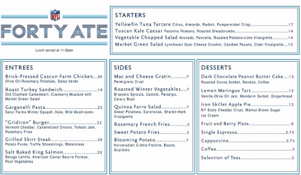 Forty Ate Restaurant Opens for Super Bowl XLVIII