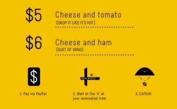 Jafflechutes: Where Sandwich and Parachute Meet