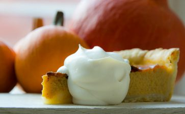 Food Postcard: Thanksgiving Pumpkin Pie