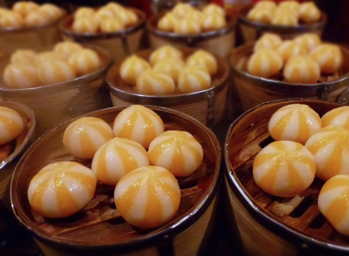 Sweet Baozi in Beijing night market