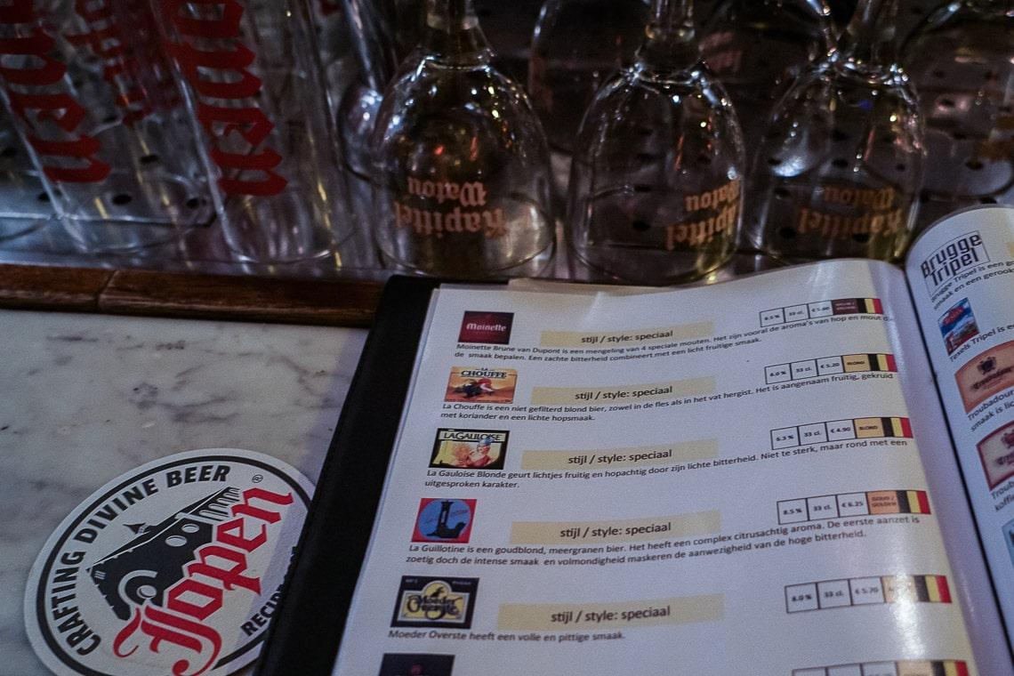 Beermenu DePaas Den Haag