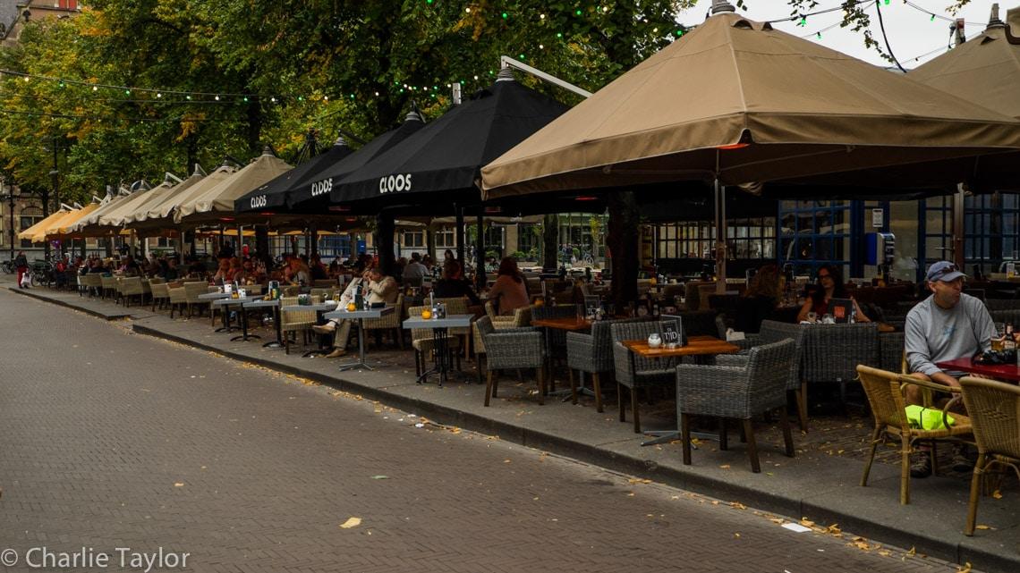Plein 19 adorned with restaurants