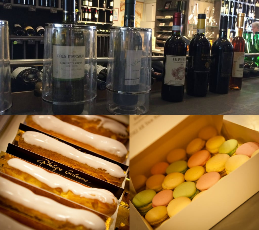 Bosman's wine selection is so elegant (photo credit: Bosman Wijnkopers) and Pâtisserie Philippe Galerne signature desserts so tempting. (photo credit: Philippe Galerne)