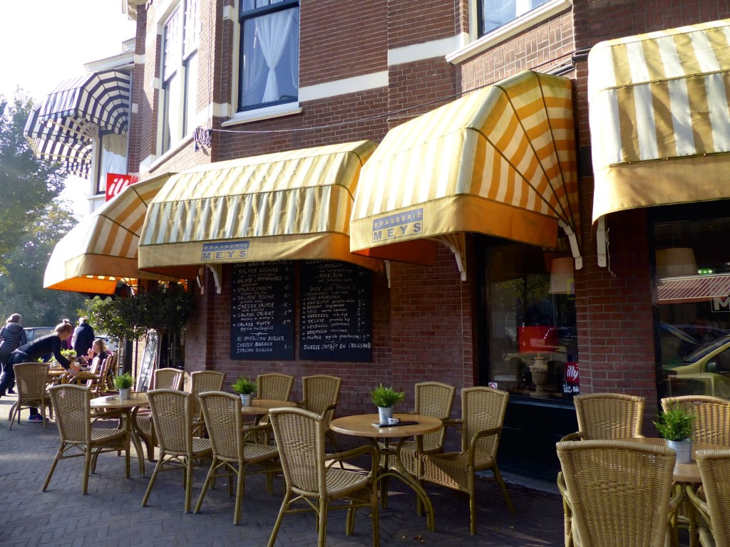 Have a break at the sunny terrace of Meys Brasserie.