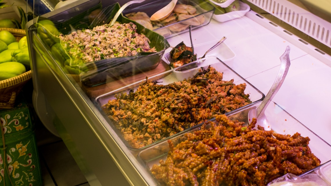Selection of freshly prepared daily specials at Irawaddy
