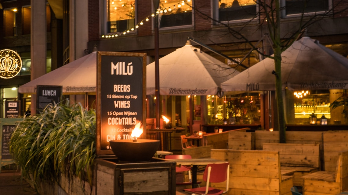 Restaurant Milu exterior with a comfortable all year round heated terrace