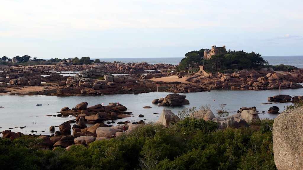 Ploumanac'h is located along the Pink Granite Coast in Brittany