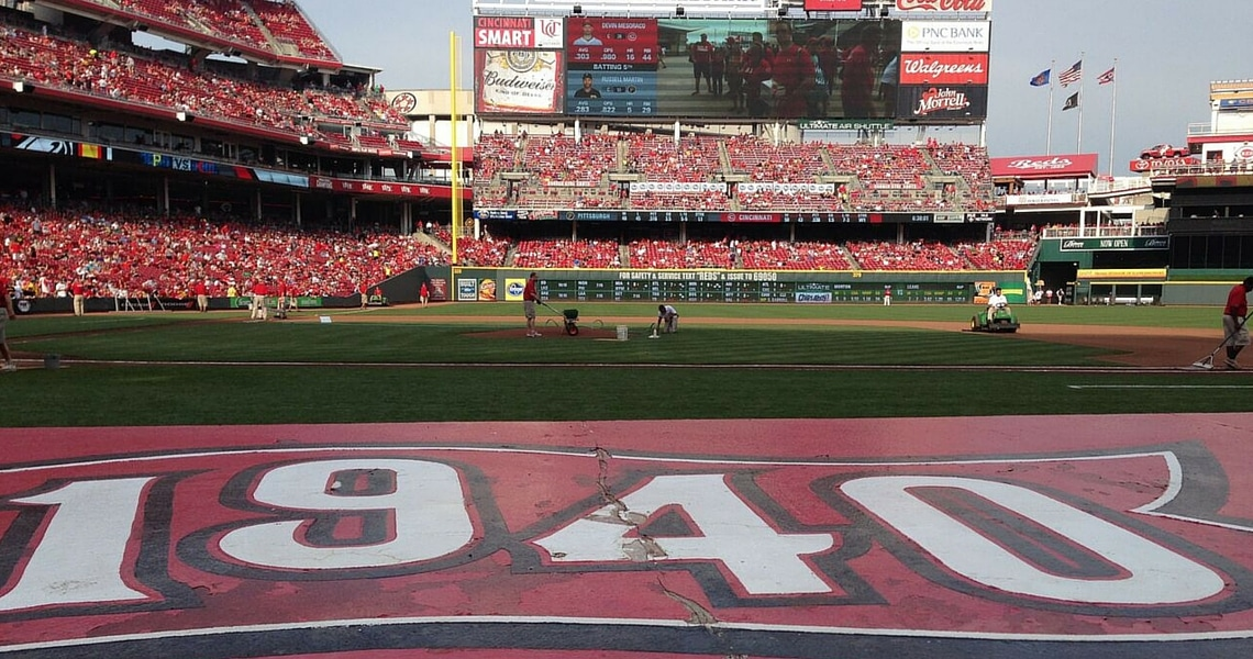 Head to a Reds game at Great American Ballpark for great fun and delicious local food. (photo credit: The Hungry Traveler)