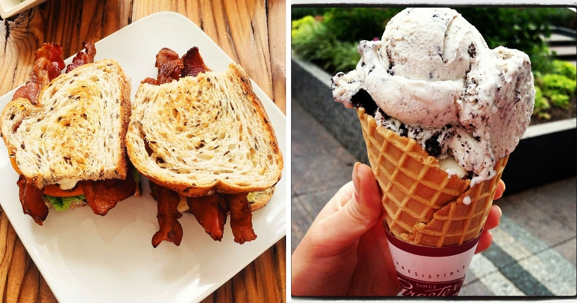 Let yourself be tempted at Cheapside Cafe and Graeter's Ice Cream. (photo credit: The Hungry Traveler)