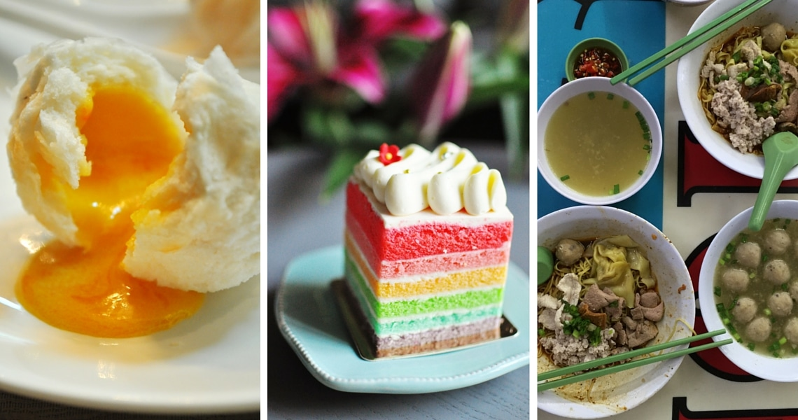 Molten custard buns, Rainbow cake and Bak Chor Mee are truly a must-eat in Singapore (Photo credit: The Food Chapter)