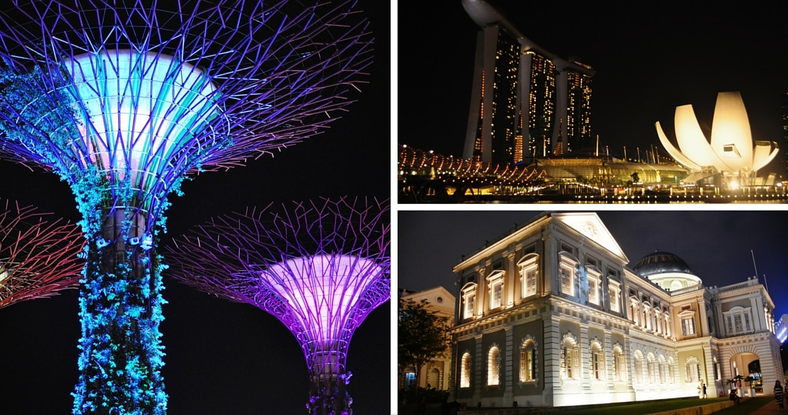 Gardens By the Bay, Marina Bay Sands and the National Museum are so iconic of the Singapore Skyline. (photo credit: The Food Chapter)