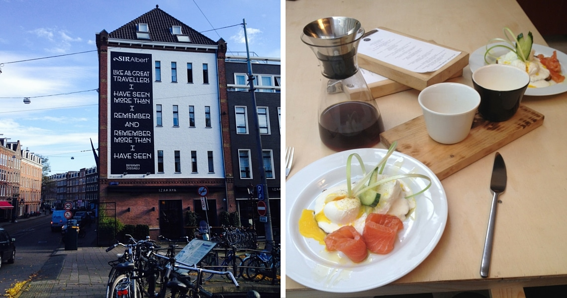 The Scandinavian Embassy cafe in De Pijp serves amazing pour over coffee and the best smoked salmon and eggs. (photo credit: I Wander & Roam)