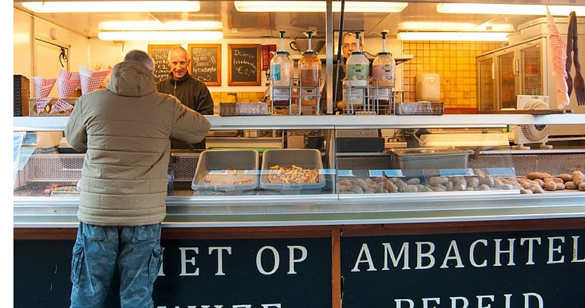 Ten Kate Market in Amsterdam is a great place to experience local dutch cuisine. (photo credit: Tales from a fork)