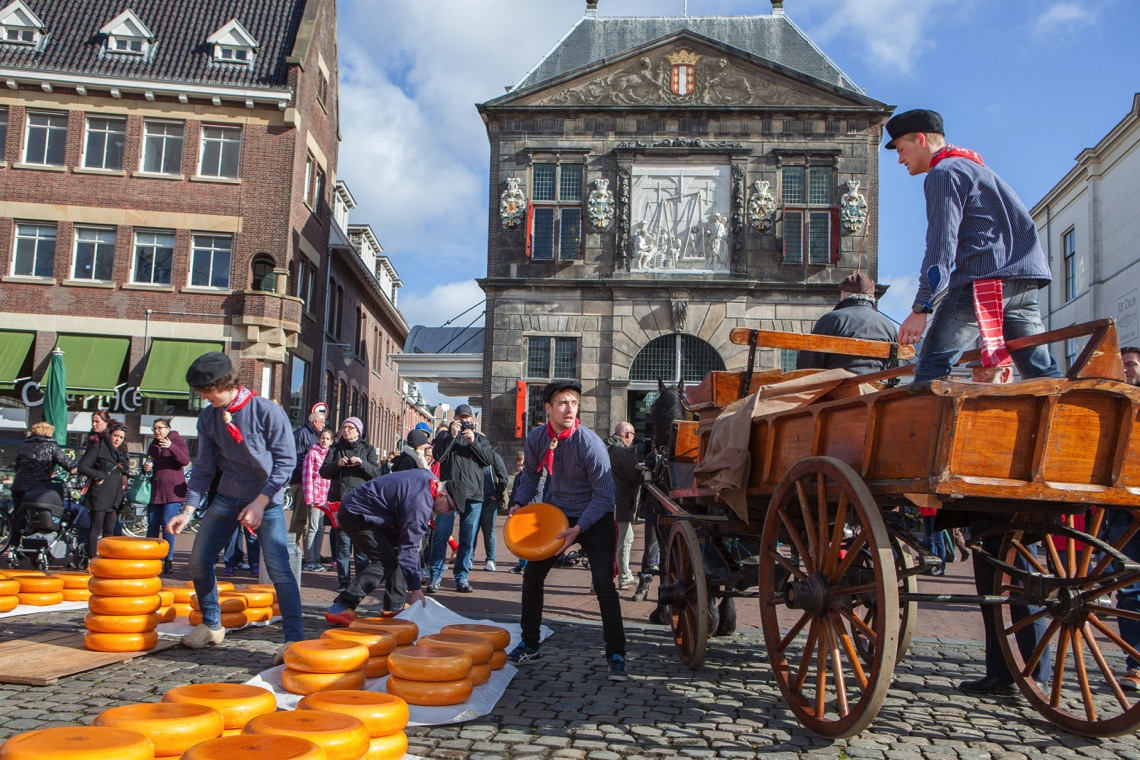 The Gouda Cheese Market may have been dressed up for the tourists, but it is still worth a visit.