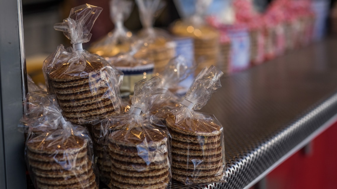 Stroopwafels, one of the many delicacies the town is famous for