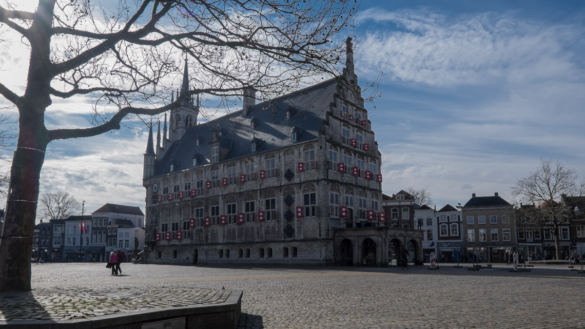 The Impressive Town Hall sitting in the middle of the Historic Market Place