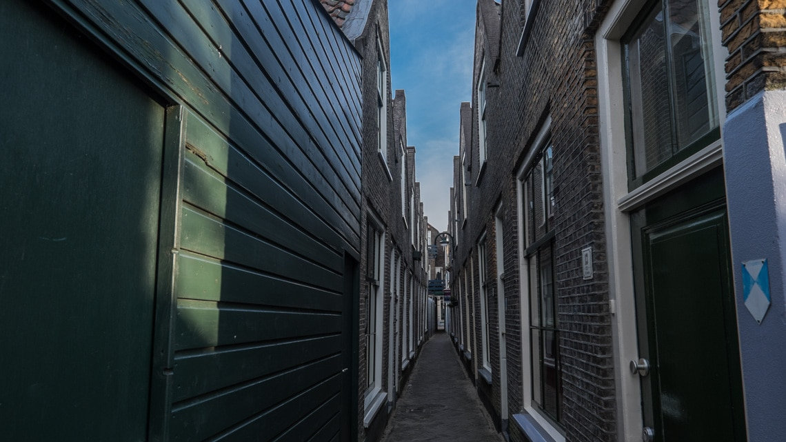 The narrow alleyways of Looierspoort of which only 12 remain today