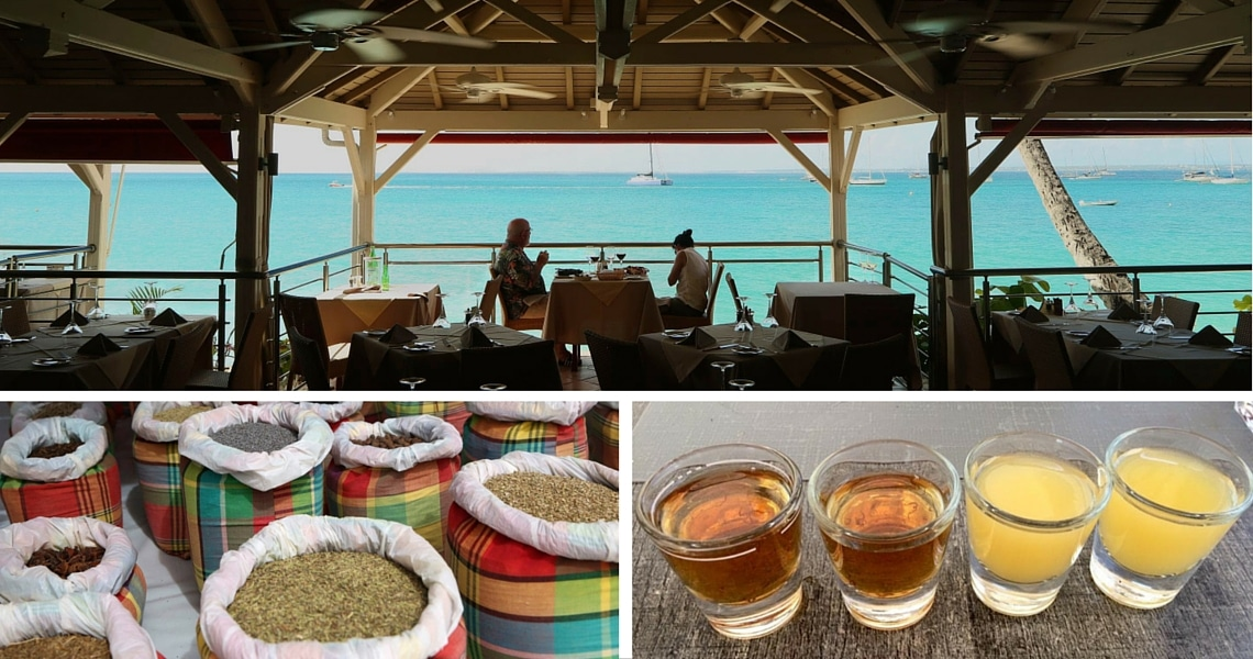 Breathtaking view, colorful spices, rhum arrangé, we are in the French Antilles. (Photo credit: Yann and Christine Cognieux)