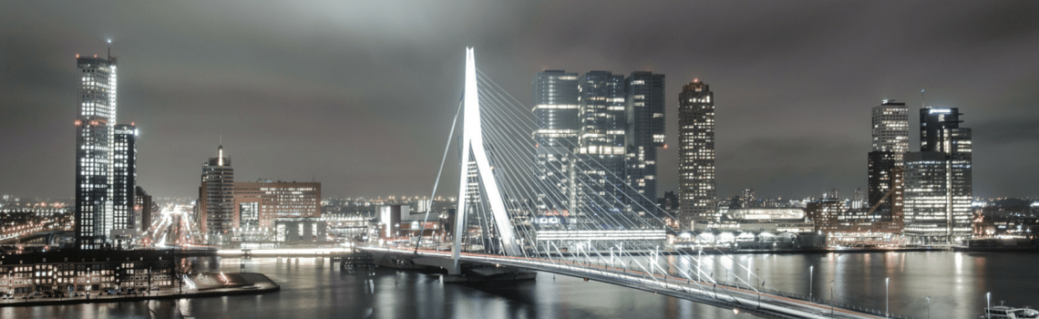 The city of Rotterdam is known for its futuristic architecture.