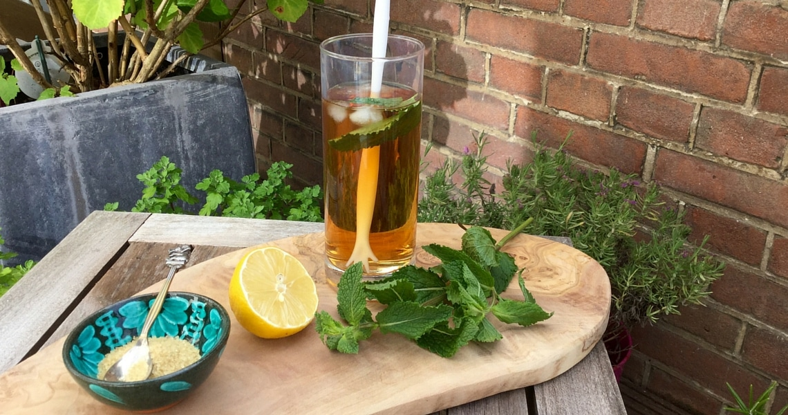 A large glass of iced tea is so refreshing on a hot summer day. Photo credit: Christine Cognieux
