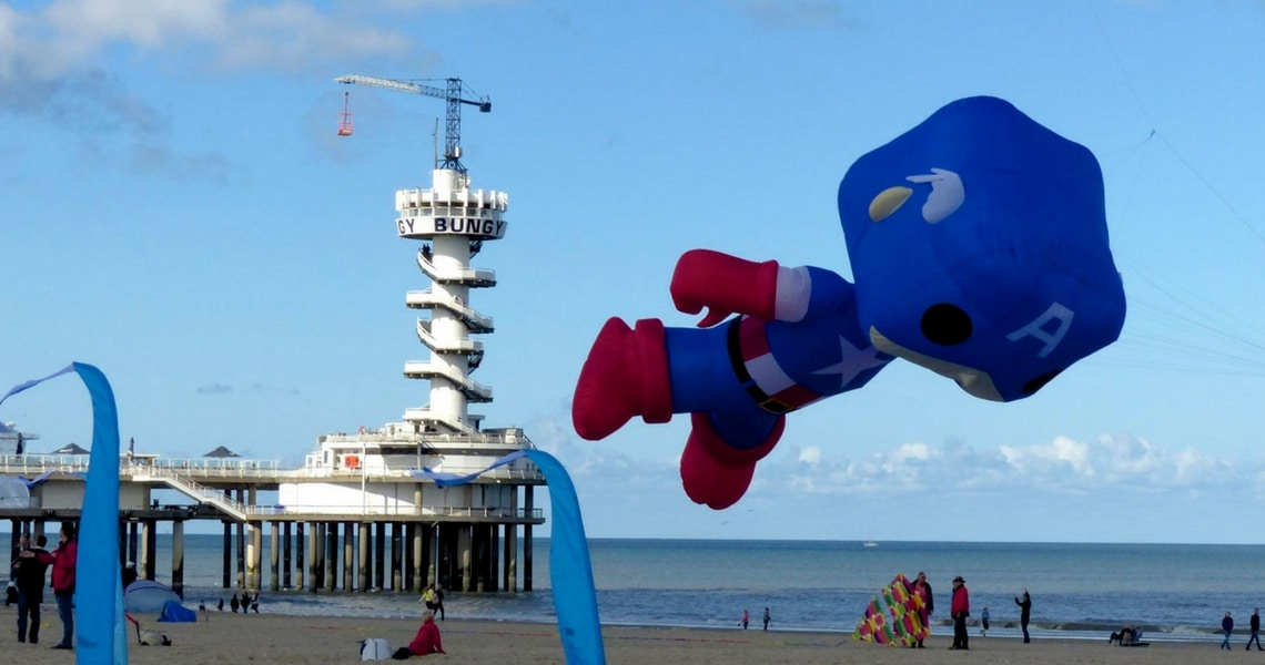 Captain America made a visit to Scheveningen. (Photo credit: Christine Cognieux)