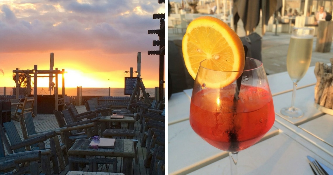 It can't get any better than watching the sunset while drinking a nice cocktail! (Photo credit: Christine Cognieux)