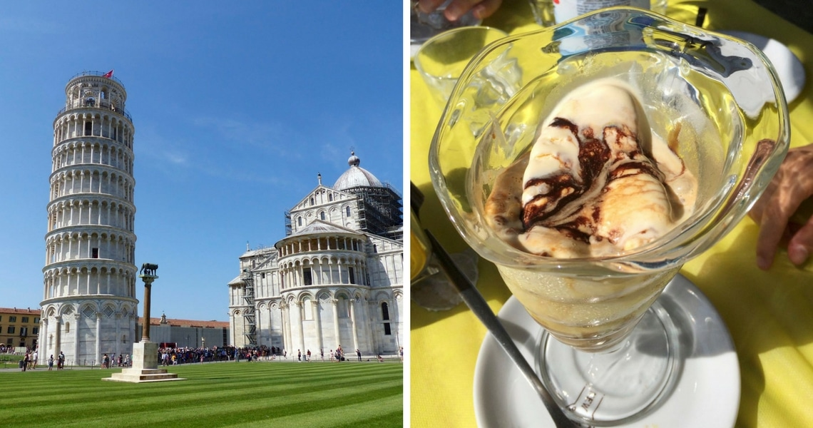 After a hot day in Pisa, Affogato al Caffè is heaven and the perfect mid-day treat! (Photo credit: Christine Cognieux)
