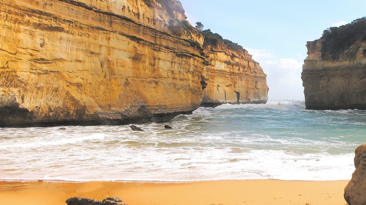 One of the beautiful beaches of The Great Ocean Road. (Photo Credit: Soraya Lemmens)