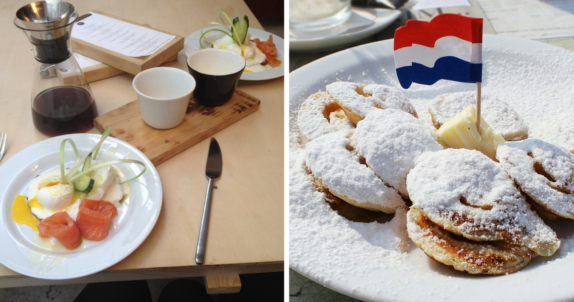 Smoked salmon and eggs and Poffertjes are all time favorite of the Dutch cuisine. (Photo credit: I Wander and Roam, Amsterdam & Beyond)