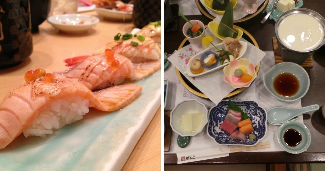 Sushi galore in Japan! (Photo credit: Celia in Tokyo and Girlswanderlust)