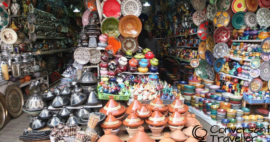 Strolling along the vendors in the Marrakech souk is such an enjoyable experience. (Photo credit: Conversant Traveller)