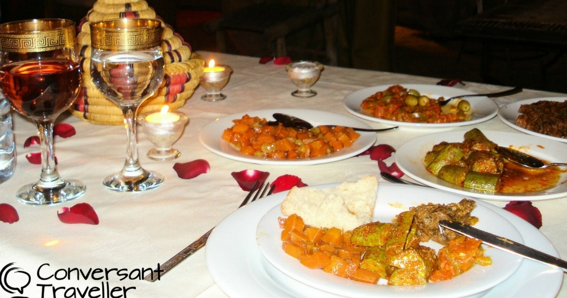 You must taste the different Moroccan salads in a Marrakesh riad. (Photo credit: Conversant Traveller)