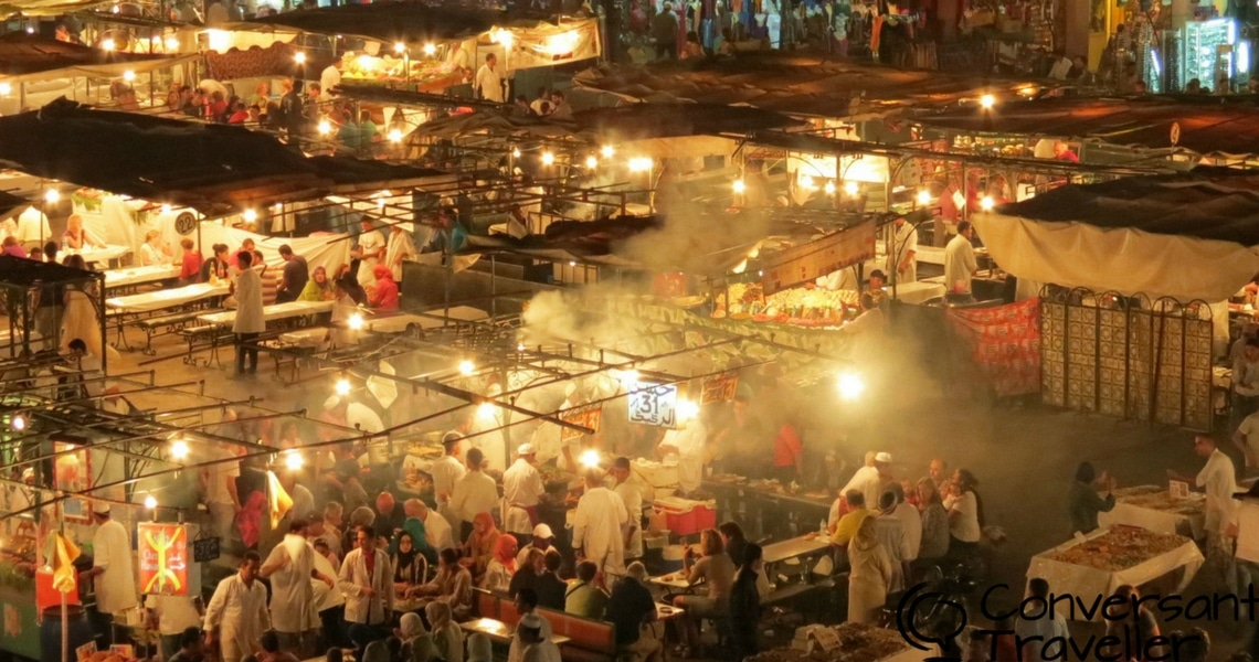 The Night Market in Djemaa el Fna is an unforgettable experience! (Photo credit: Conversant Traveller)