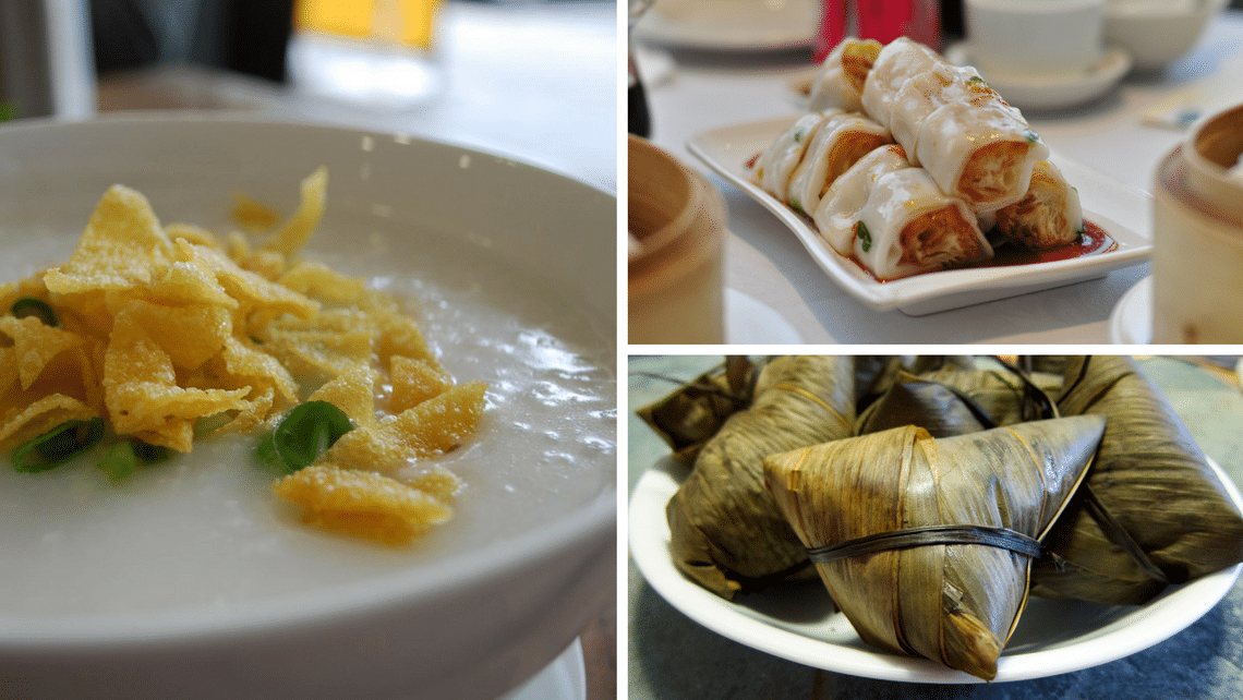 Some of the popular congee garnishes and side dishes.