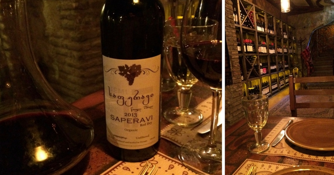 The Barbarestan restaurant in Tbilisi has some amazing wines. (Photo credit: Traveling Bytes)