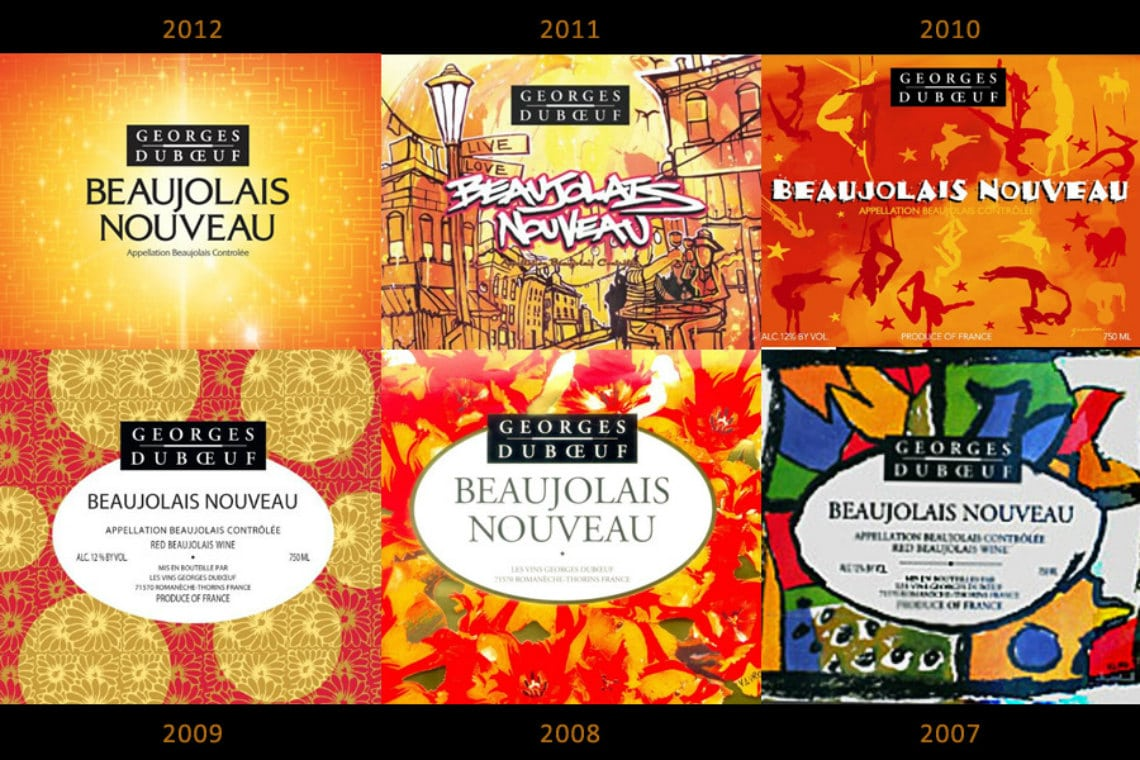 Wine labels from Duboeuf