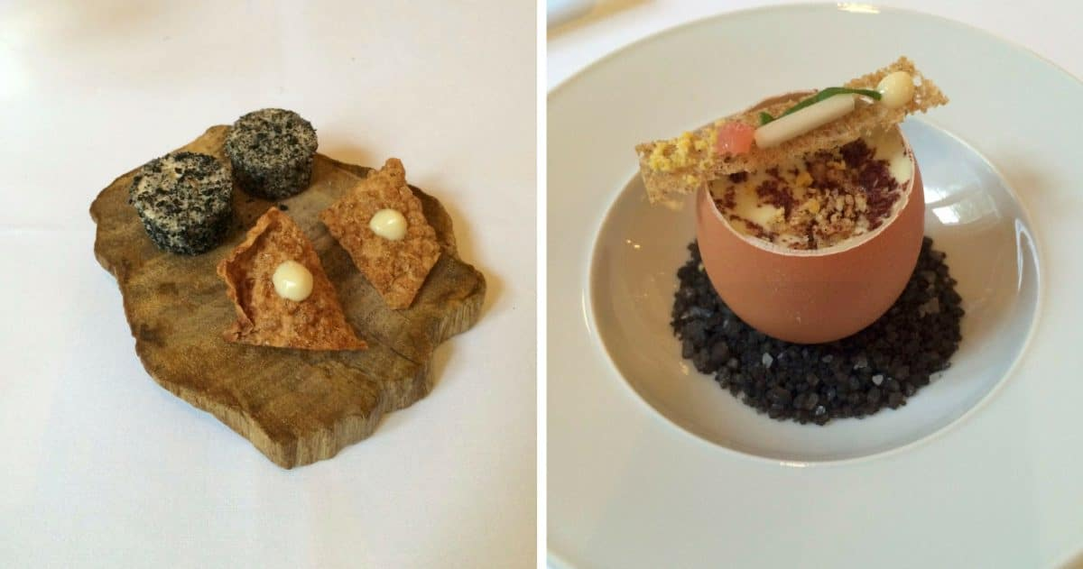 The amuse-bouches offer fun examples of the Chef's modern cuisine. (Photos by Christine Cognieux)
