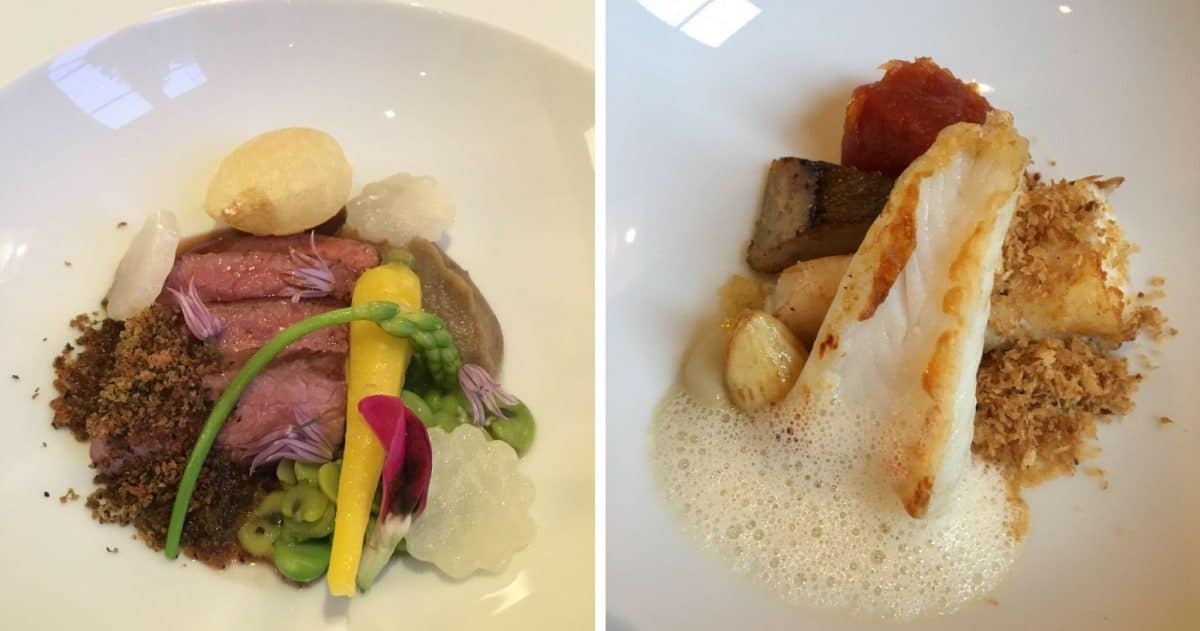 The two main courses are equally beautiful and delightful. (Photos by Yann Cognieux)