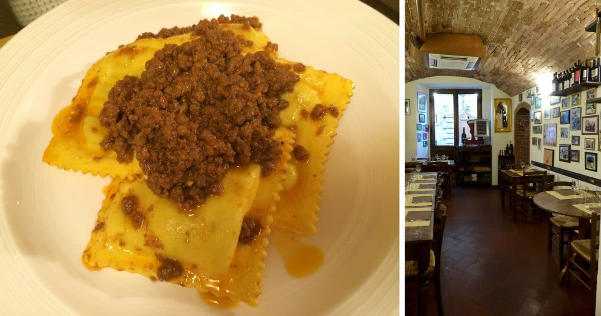You will find only Sienese dishes in this Trattoria dedicated to the Palio. (Photos credit: Christine Cognieux)
